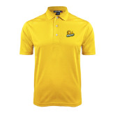 Gold Dry Mesh Polo-Lions w/Lion