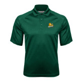Dark Green Textured Saddle Shoulder Polo-Lions w/Lion
