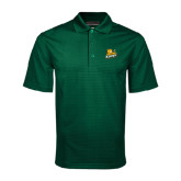 Dark Green Mini Stripe Polo-Lions w/Lion