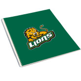College Spiral Notebook w/Clear Coil-Lions w/Lion