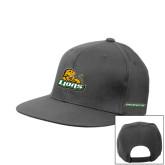 Charcoal Flat Bill Snapback Hat-Lions w/Lion
