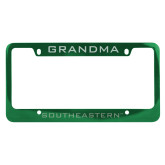 Metal Green License Plate Frame-Grandma