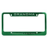 Metal Green License Plate Frame-Grandma