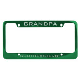 Metal Green License Plate Frame-Grandpa