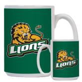 Full Color White Mug 15oz-Lions w/Lion
