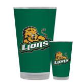 Full Color Glass 17oz-Lions w/Lion