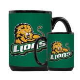 Full Color Black Mug 15oz-Lions w/Lion