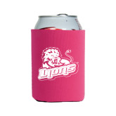 Neoprene Hot Pink Can Holder-Lions w/Lion