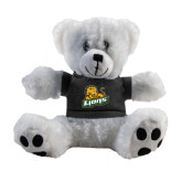 Plush Big Paw 8 1/2 inch White Bear w/Black Shirt-Lions w/Lion
