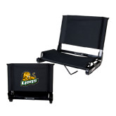 Stadium Chair Black-Lions w/Lion