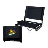Stadium Chair Black-Lions w/Lion