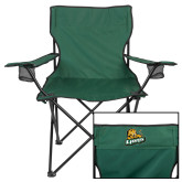 Deluxe Green Captains Chair-Lions w/Lion