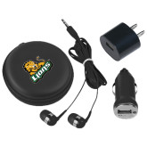 3 in 1 Black Audio Travel Kit-Lions w/Lion