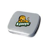 Silver Rectangular Peppermint Tin-Lions w/Lion