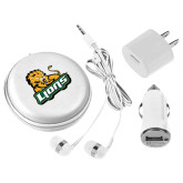3 in 1 White Audio Travel Kit-Lions w/Lion