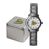 Ladies Stainless Steel Fashion Watch-Lions w/Lion