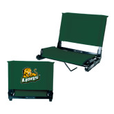 Stadium Chair Dark Green-Lions w/Lion