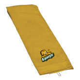 Gold Golf Towel-Lions w/Lion