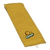 Gold Golf Towel-Lions w/Lion