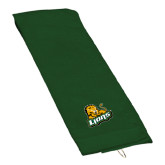 Dark Green Golf Towel-Lions w/Lion