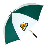 62 Inch Forest Green/White Umbrella-Lions w/Lion