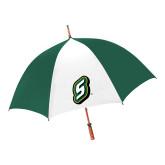 62 Inch Forest Green/White Umbrella-S