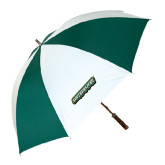 62 Inch Forest Green/White Umbrella-Southeastern