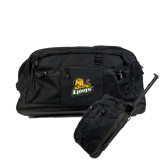 Urban Passage Wheeled Black Duffel-Lions w/Lion
