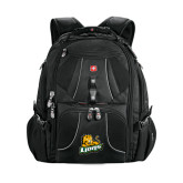 Wenger Swiss Army Mega Black Compu Backpack-Lions w/Lion