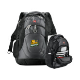Wenger Swiss Army Tech Charcoal Compu Backpack-Lions w/Lion