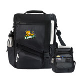 Momentum Black Computer Messenger Bag-Lions w/Lion
