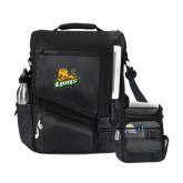 Momentum Black Computer Messenger Bag-Lions w/Lion