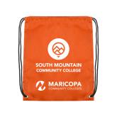 Orange Drawstring Backpack-Stacked