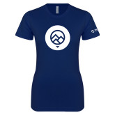 Next Level Ladies SoftStyle Junior Fitted Navy Tee-Icon