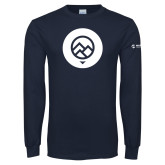 Navy Long Sleeve T Shirt-Icon