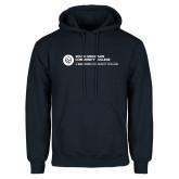Comm College Navy Fleece Hoodie-Primary Mark
