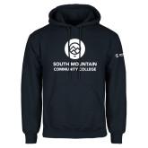 Comm College Navy Fleece Hoodie-Stacked