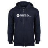 Comm College Navy Fleece Full Zip Hoodie-Primary Mark