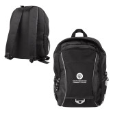 Atlas Black Computer Backpack-Stacked