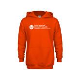 Comm College Youth Orange Fleece Hoodie-Primary Mark