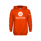 Comm College Youth Orange Fleece Hoodie-Stacked