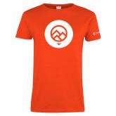 Ladies Orange T Shirt-Icon