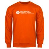 Comm College Orange Fleece Crew-Primary Mark