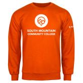 Comm College Orange Fleece Crew-Stacked