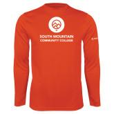 Comm College Performance Orange Longsleeve Shirt-Stacked