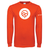 Orange Long Sleeve T Shirt-Icon