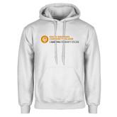 Comm College White Fleece Hoodie-Primary Mark