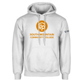 Comm College White Fleece Hoodie-Stacked
