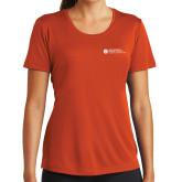 Ladies Syntrel Performance Orange Tee-Primary Mark