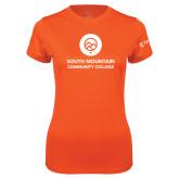 Ladies Syntrel Performance Orange Tee-Stacked